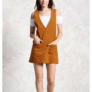 Corduroy camel pocket dress